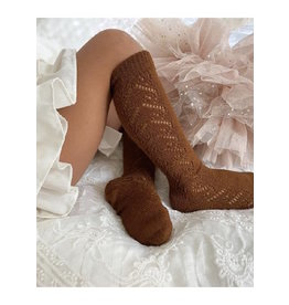 CONDOR Cinnamon Wool Side Openwork Socks