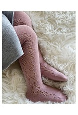 CONDOR Pale Pink Wool Side Openwork Tights