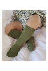 CONDOR Seaweed Ribbed Knee Socks