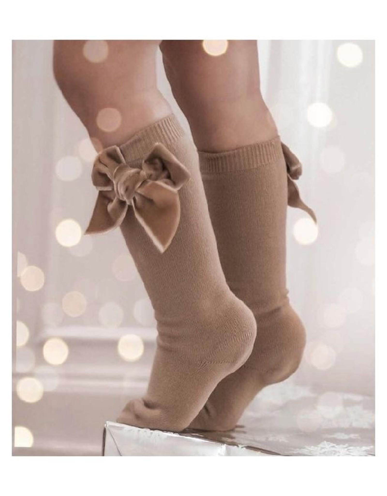 CONDOR Rope Velvet Bow Socks