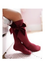 CONDOR Garnet Velvet Bow Socks