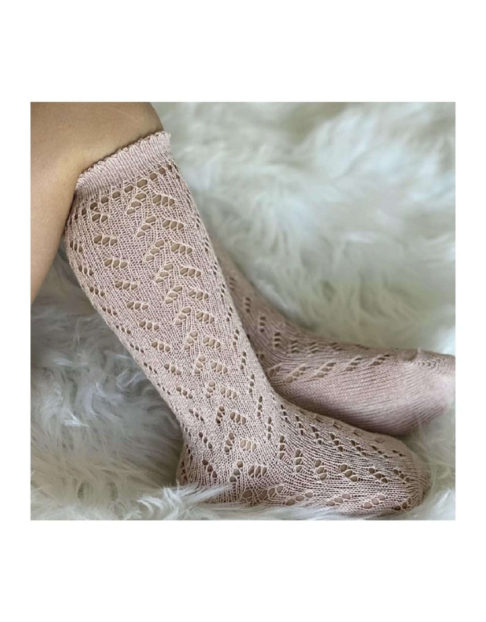 CONDOR Old Rose Warm Openwork Socks
