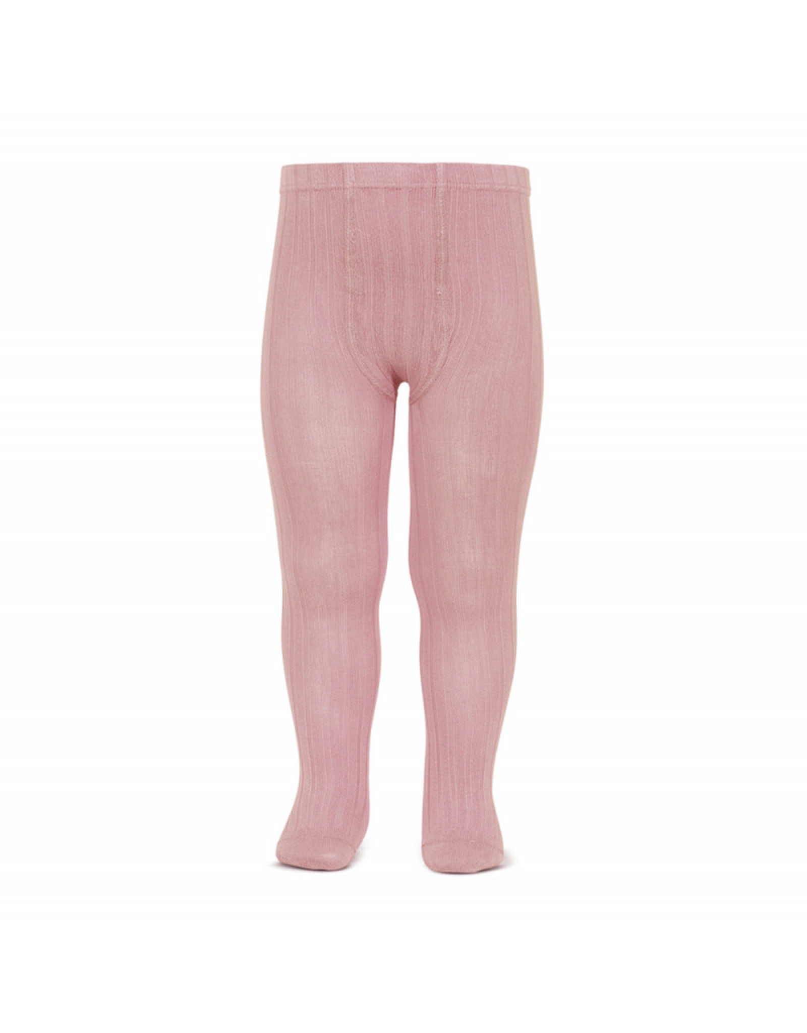 CONDOR Pale Pink Ribbed Tights