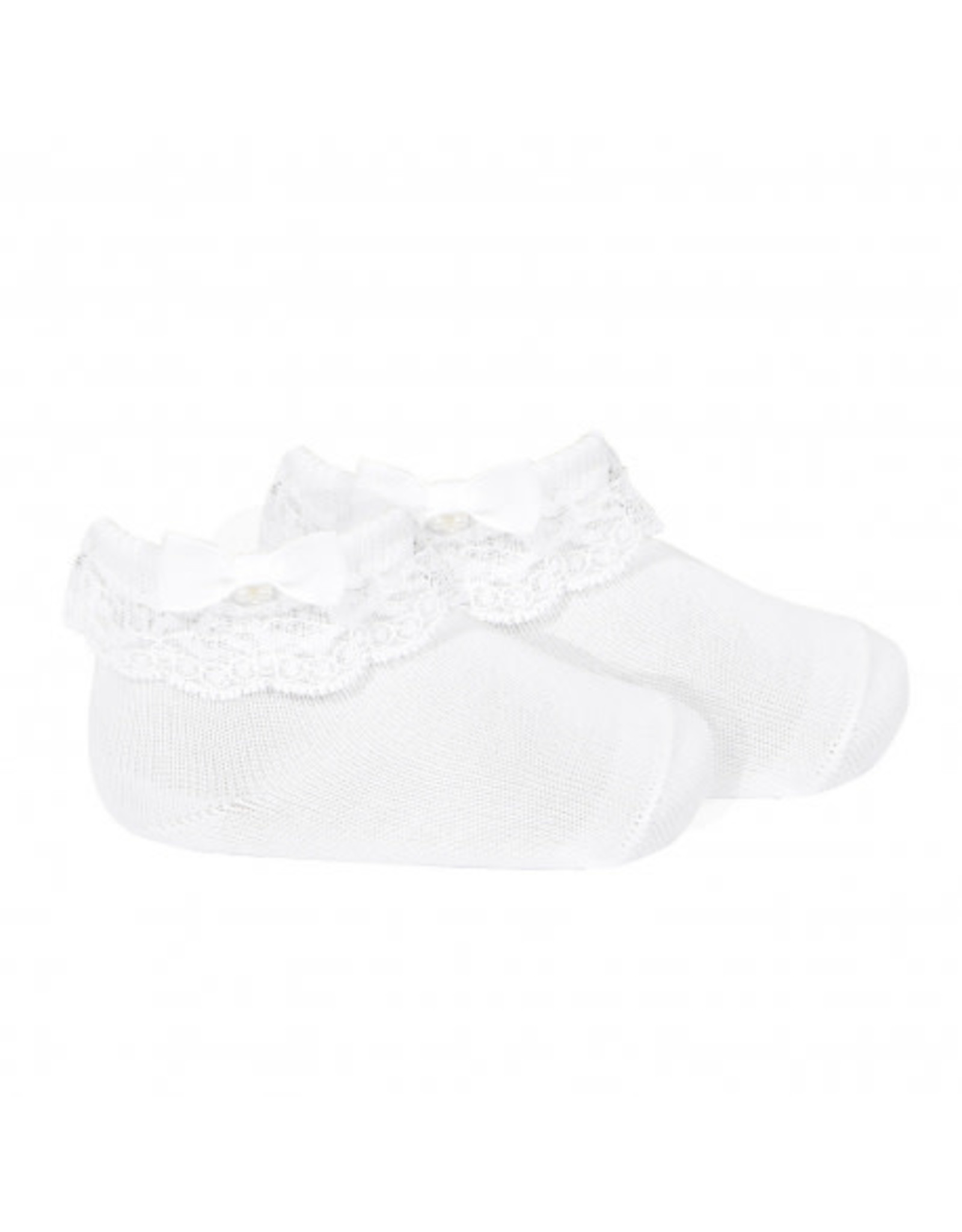 CONDOR Lace Ankle Socks with Folded Cuff