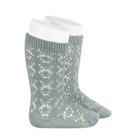 CONDOR Dry Green Geometric Openwork Socks