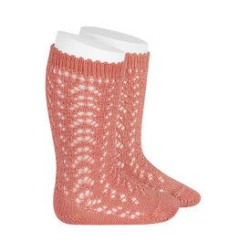 CONDOR Peony Openwork Knee Socks