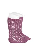 CONDOR Cassis Openwork Knee Socks