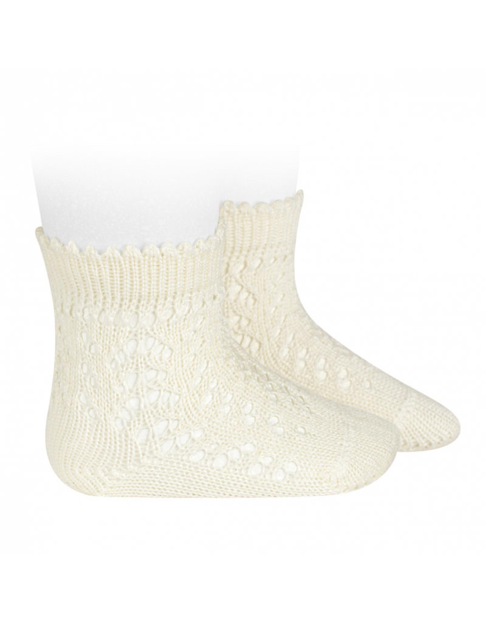 CONDOR Beige Openwork Short Socks