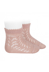 CONDOR Old Rose Openwork Short Socks