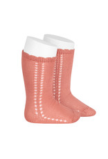 CONDOR Peony Side Openwork Knee Socks