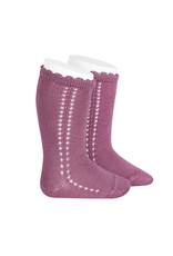 CONDOR Cassis Side Openwork Knee Socks