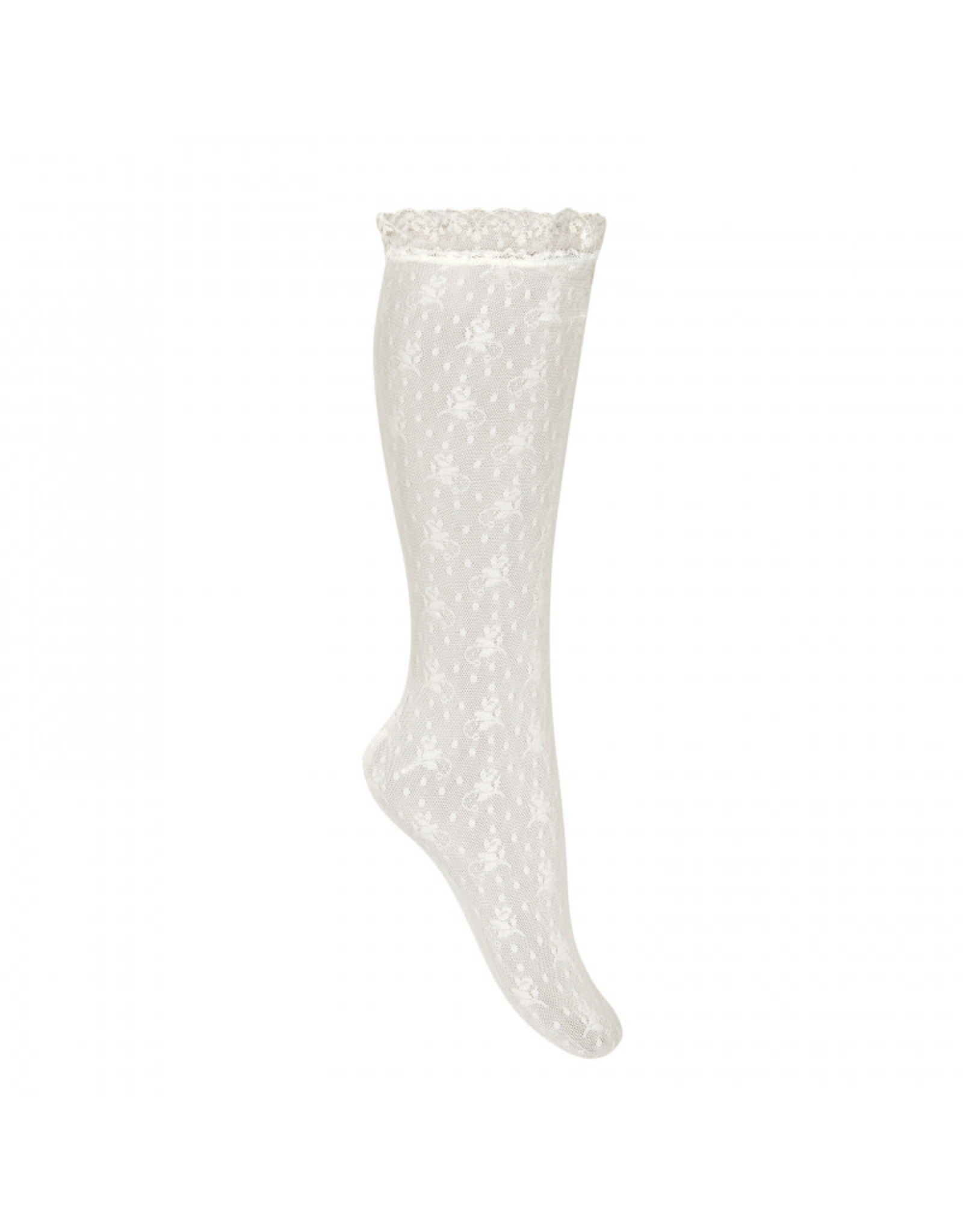 CONDOR White Lace Knee Socks