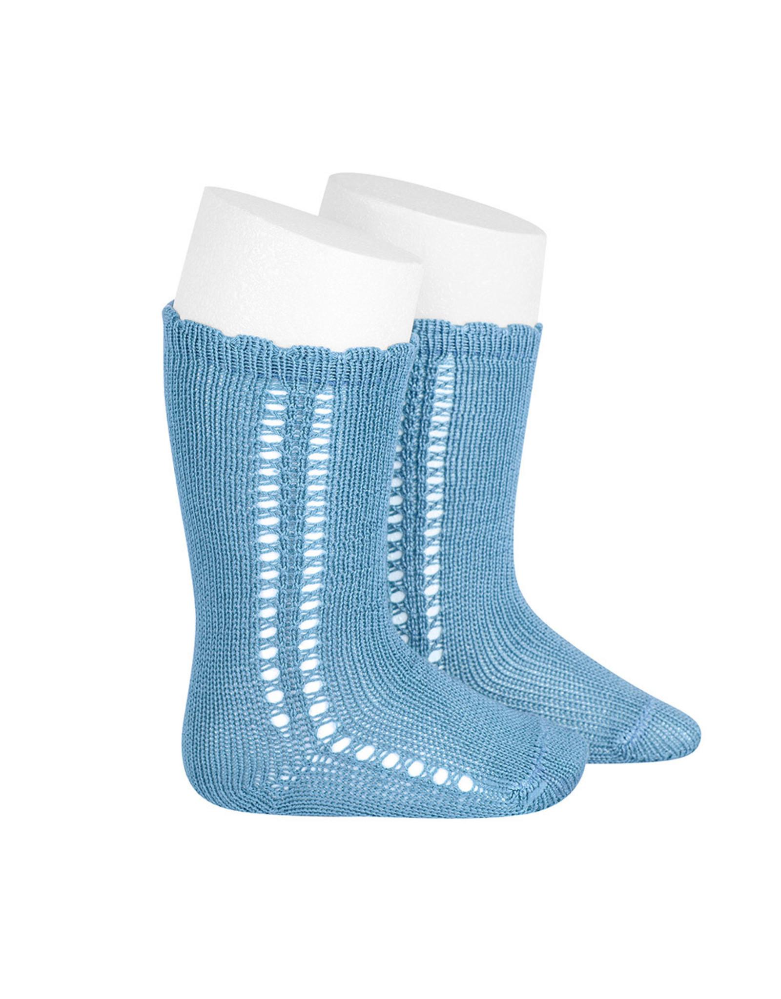CONDOR Cloud Side Openwork Knee Socks