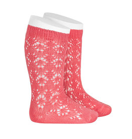 CONDOR Coralline Geometric Openwork Socks