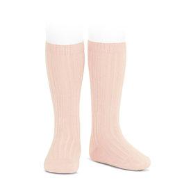 CONDOR Nude Ribbed Socks