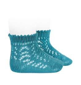 CONDOR Stone Blue Short Openwork Socks