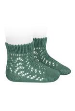 CONDOR Cedar Short Openwork Socks