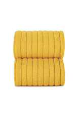 CONDOR Yellow Ribbed Knee Socks