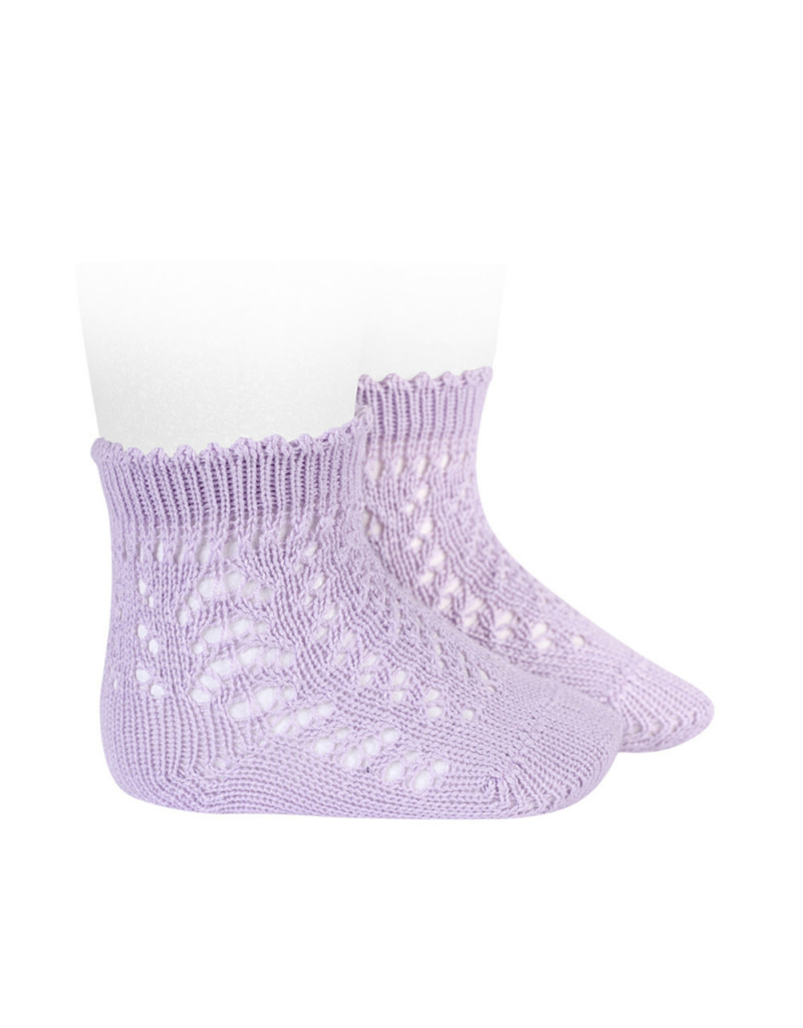 CONDOR Mauve Short Openwork Socks