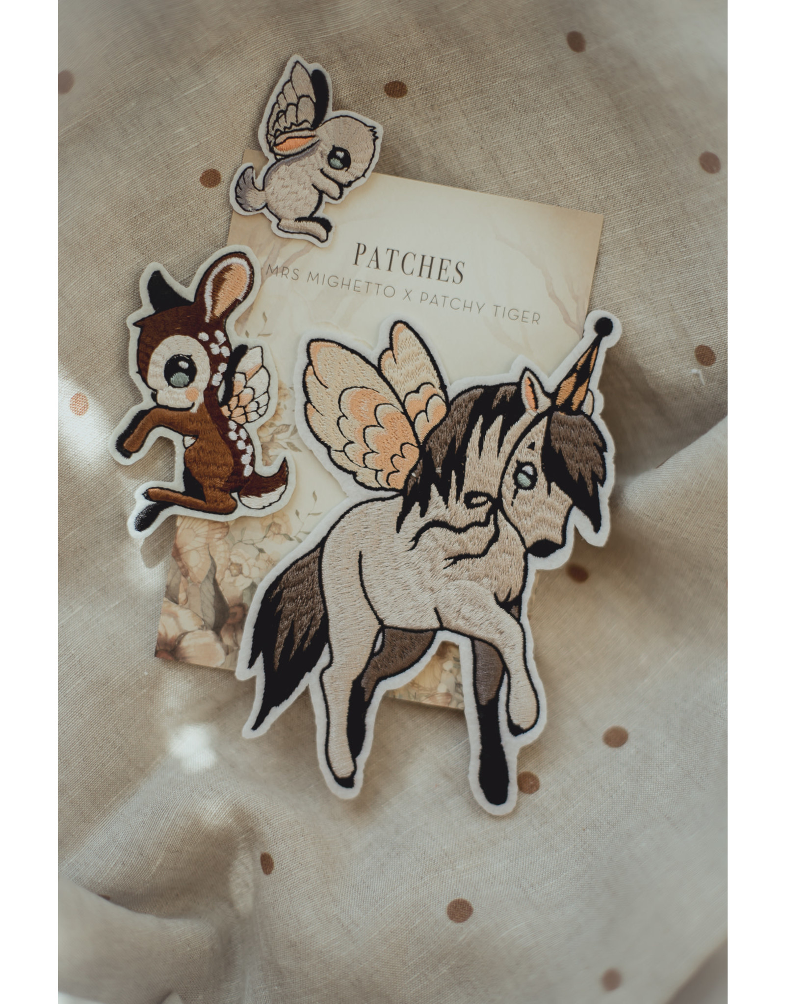 MRS MIGHETTO 3 Pack Patches - Flying Pony, Dear Kid & Bunny