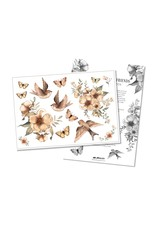 MRS MIGHETTO Temporary Tattoos Flowers & Flying Friends