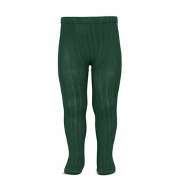 CONDOR Bottle Green Ribbed Tights