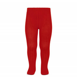 CONDOR Red Ribbed Tights