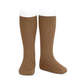 CONDOR Toffee Ribbed Knee Socks