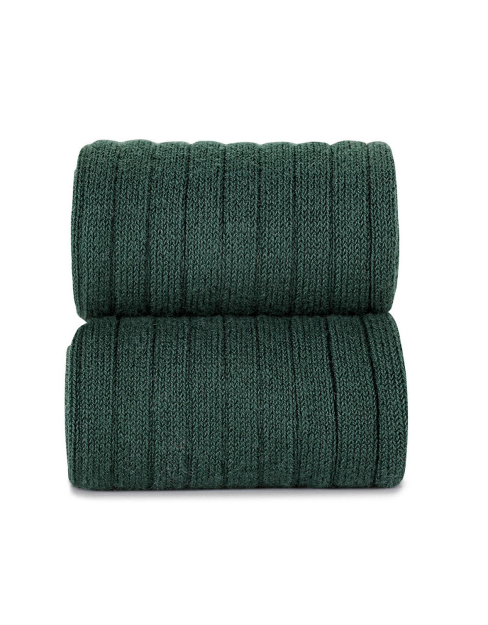 CONDOR Bottle Green Ribbed Knee Socks
