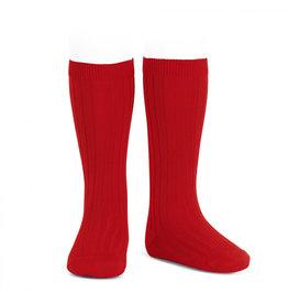 CONDOR Red Ribbed Socks