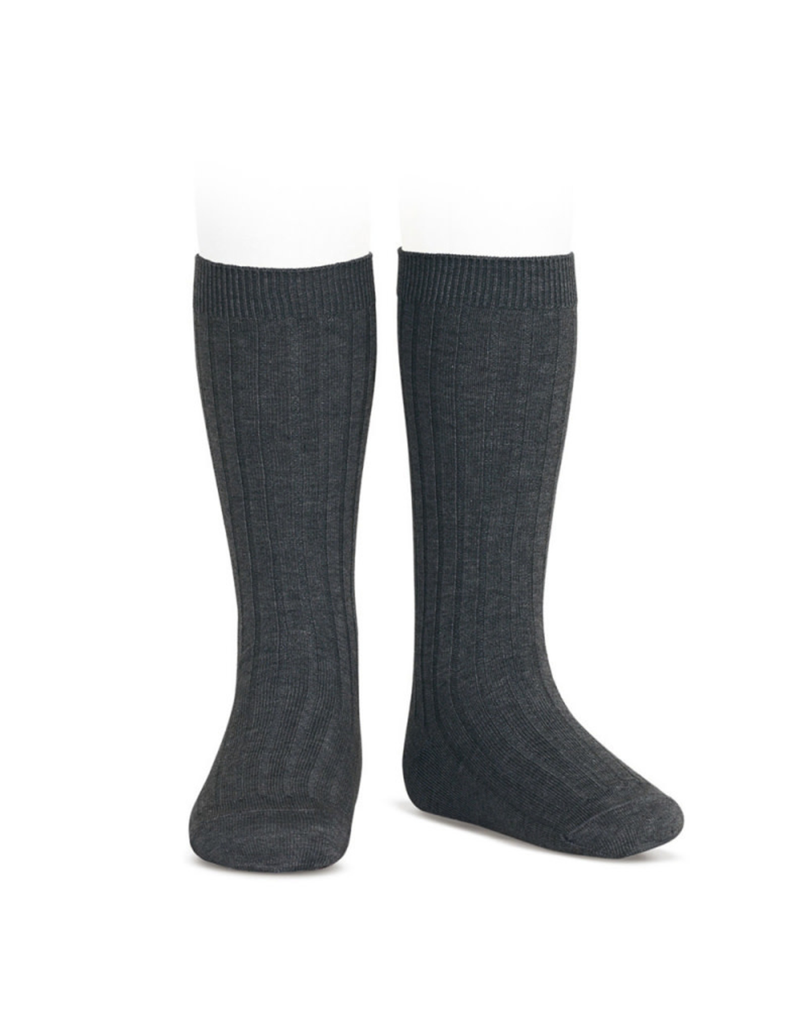 CONDOR Anthracite Ribbed Knee Socks