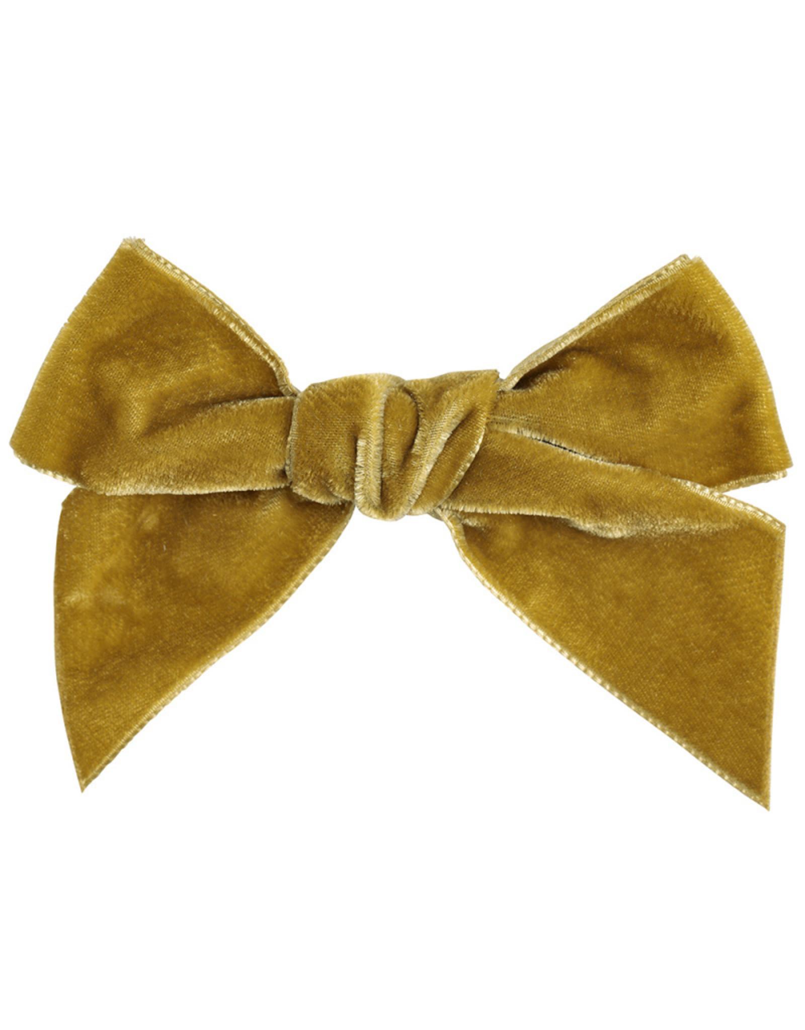 CONDOR Mustard Velvet Hair Bow