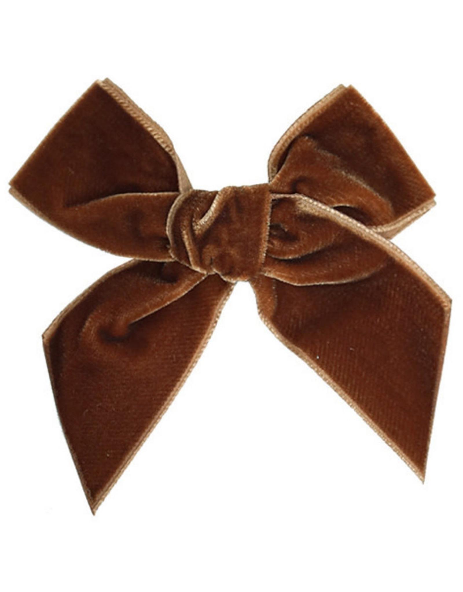 CONDOR Toffee Velvet Hair Bow