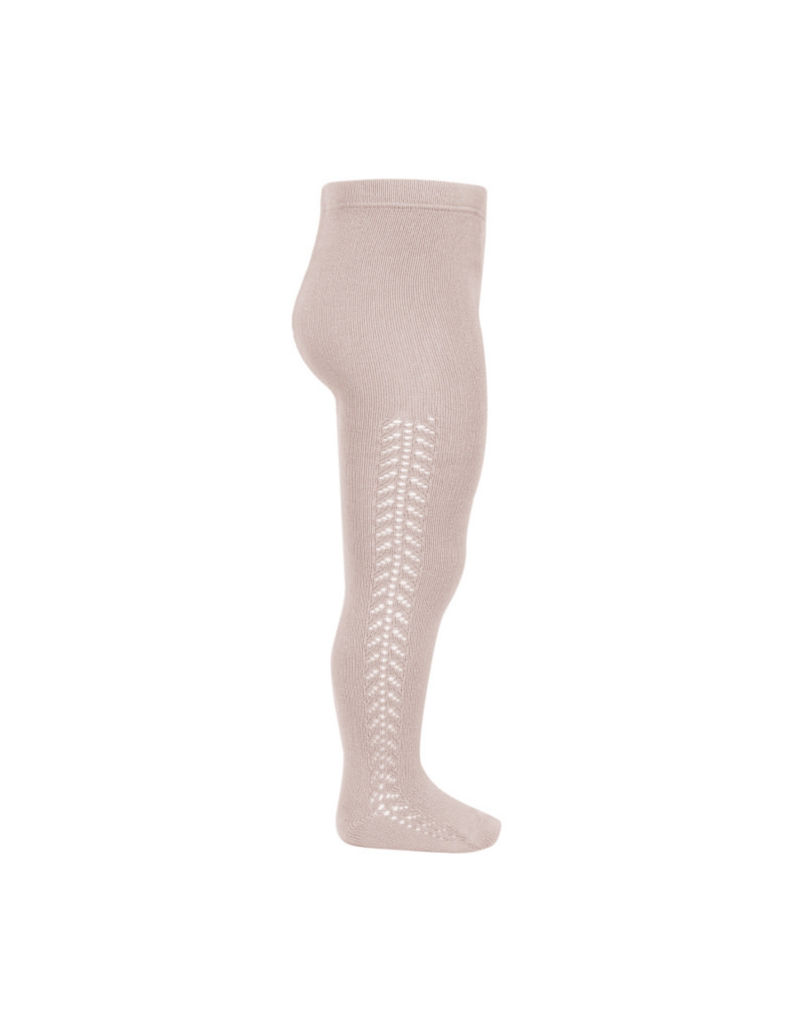CONDOR Old Rose Side Openwork Tights