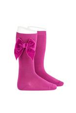 CONDOR Petunia Velvet Bow Socks