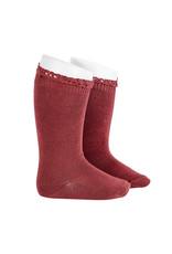 CONDOR Marsala Lace Edging Knee Socks