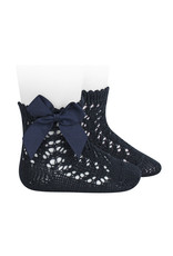 CONDOR Navy Blue Short Openworks with Bows