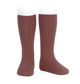 CONDOR Marsala Ribbed Knee Socks