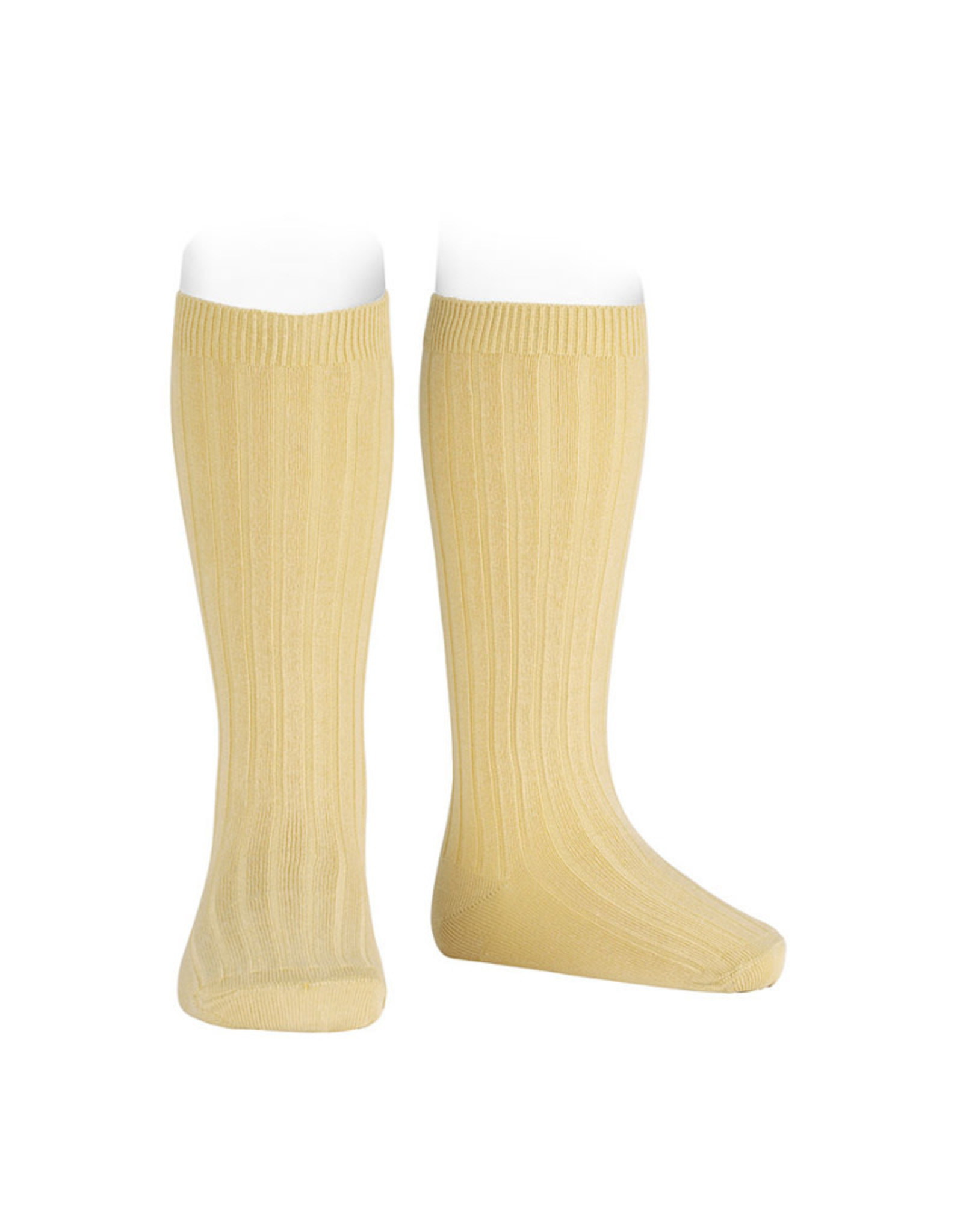 CONDOR Banana Ribbed Knee Socks