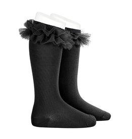 CONDOR Black Tulle Knee Socks