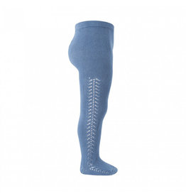 CONDOR French Blue Side Openwork Tights