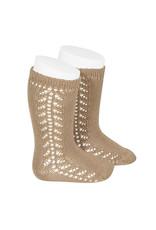 CONDOR Camel Warm Side Openwork Socks
