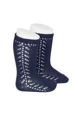 CONDOR Navy Blue Warm Side Openwork Socks