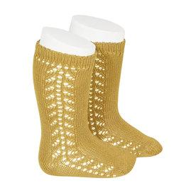 CONDOR Mustard Warm Side Openwork Socks