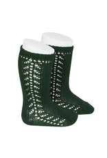 CONDOR Bottle Green Warm Side Openwork Socks