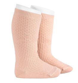 CONDOR Nude Wool Patterned Knee Socks