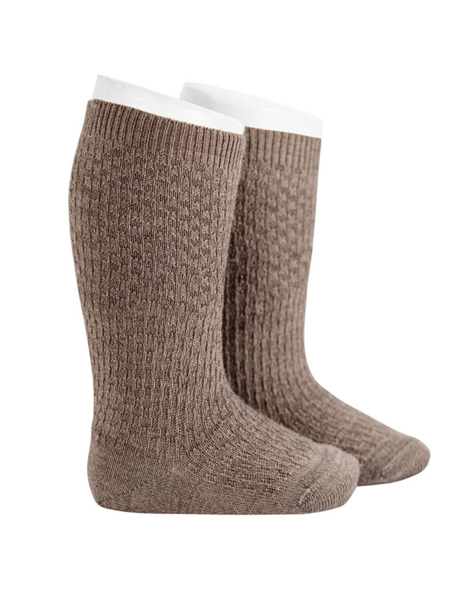 CONDOR Trunk Wool Patterned Knee Socks