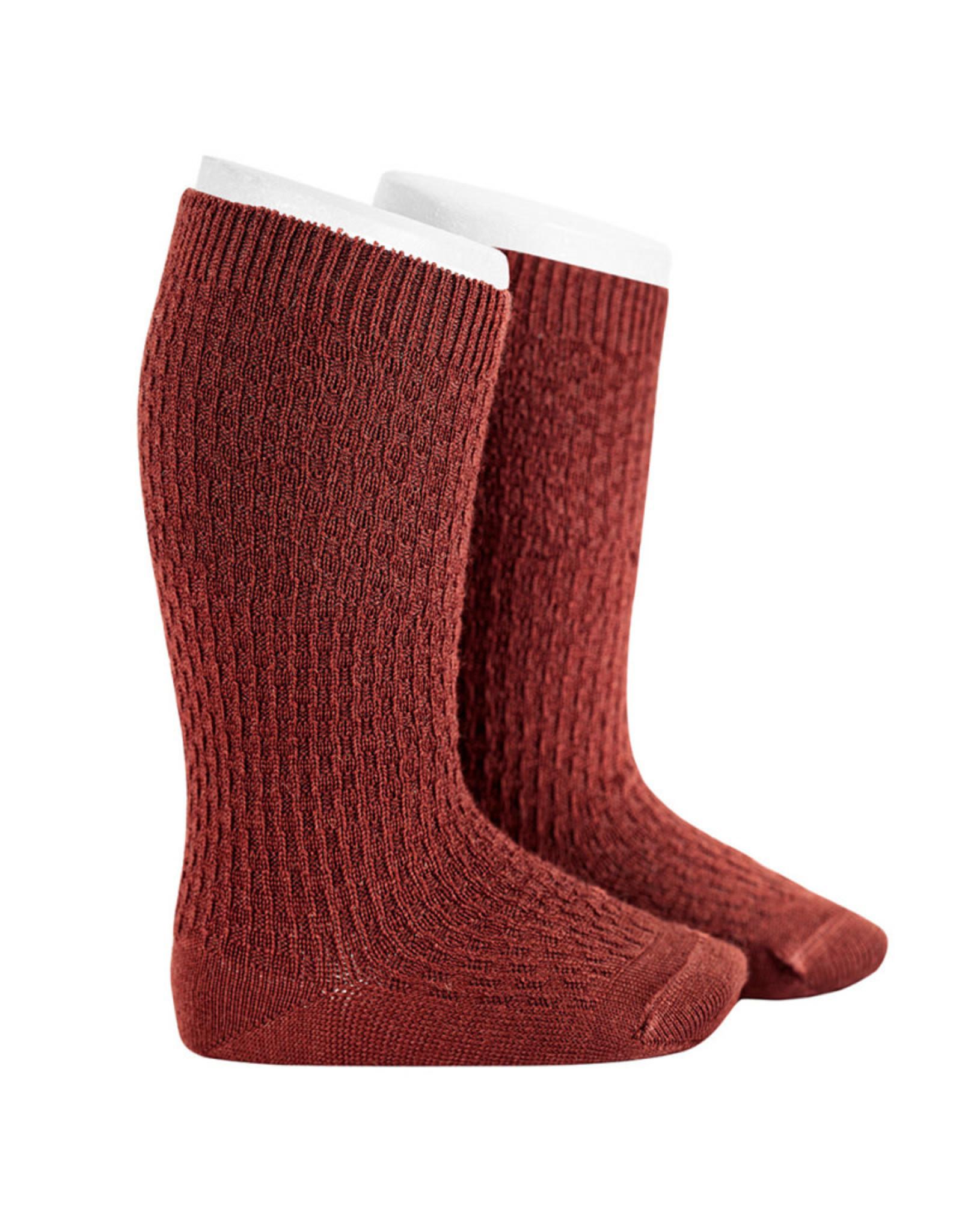 CONDOR Granet Wool Patterned Knee Socks