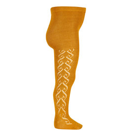 CONDOR Curry Wool Side Openwork Tights