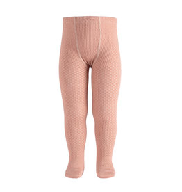 CONDOR Old Rose Wool Patterned Tights